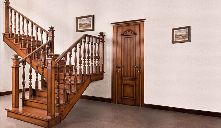 European solid wood stair customization